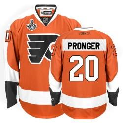 Reebok Philadelphia Flyers 20 Chris Pronger Home Stanley Cup Finals Jersey - Orange Authentic