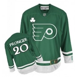 Reebok Philadelphia Flyers 20 Chris Pronger St Patty's Day Jersey - Green Authentic