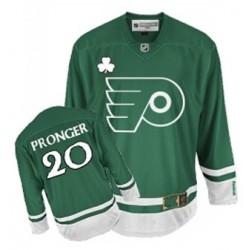 Reebok Philadelphia Flyers 20 Chris Pronger St Patty's Day Jersey - Green Premier
