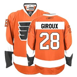 Youth Reebok Philadelphia Flyers 28 Claude Giroux Home Jersey - Orange Authentic