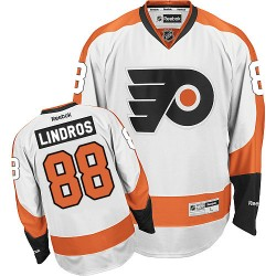 Reebok Philadelphia Flyers 88 Eric Lindros Away Jersey - White Premier