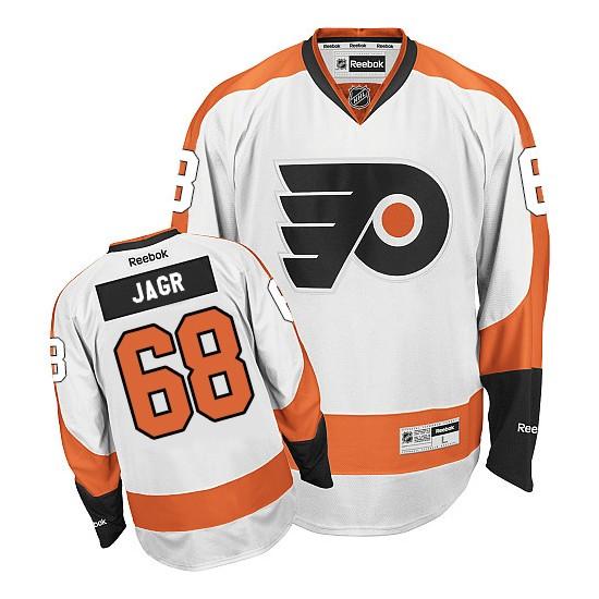 Reebok Philadelphia Flyers 68 Jaromir Jagr Away Jersey - White Premier