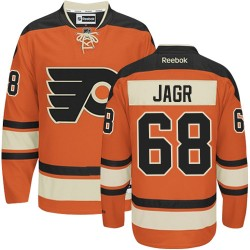 Reebok Philadelphia Flyers 68 Jaromir Jagr New Third Jersey - Orange Authentic