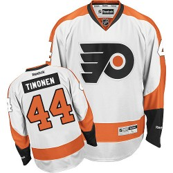 Reebok Philadelphia Flyers 44 Kimmo Timonen Away Jersey - White Authentic