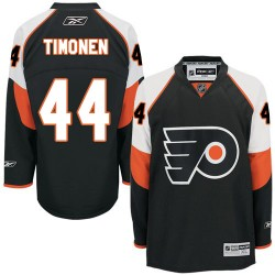 Reebok Philadelphia Flyers 44 Kimmo Timonen Third Jersey - Black Authentic