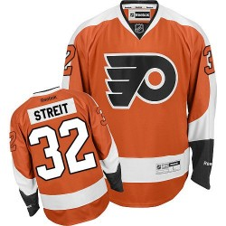 Reebok Philadelphia Flyers 32 Mark Streit Home Jersey - Orange Authentic