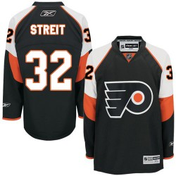 Reebok Philadelphia Flyers 32 Mark Streit Third Jersey - Black Authentic