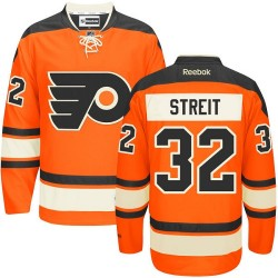 Reebok Philadelphia Flyers 32 Mark Streit New Third Jersey - Orange Authentic