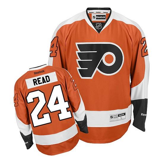 Reebok Philadelphia Flyers 24 Matt Read Home Jersey - Orange Premier