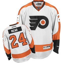 Reebok Philadelphia Flyers 24 Matt Read Away Jersey - White Authentic