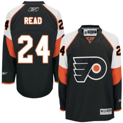 Reebok Philadelphia Flyers 24 Matt Read Third Jersey - Black Authentic