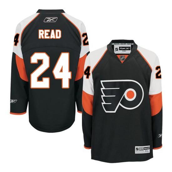 Reebok Philadelphia Flyers 24 Matt Read Third Jersey - Black Premier