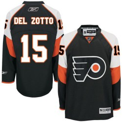 Reebok Philadelphia Flyers 15 Michael Del Zotto Third Jersey - Black Authentic