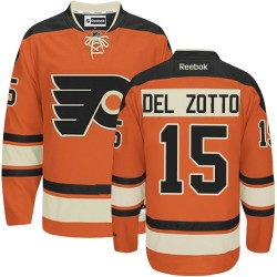 Reebok Philadelphia Flyers 15 Michael Del Zotto New Third Jersey - Orange Premier