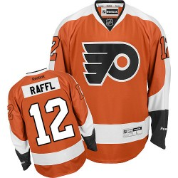 Reebok Philadelphia Flyers 12 Michael Raffl Home Jersey - Orange Authentic