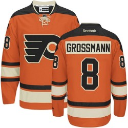 Reebok Philadelphia Flyers 8 Nicklas Grossmann New Third Jersey - Orange Premier