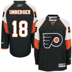 Reebok Philadelphia Flyers 18 R. J. Umberger Third Jersey - Black Authentic