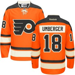 Reebok Philadelphia Flyers 18 R. J. Umberger New Third Jersey - Orange Authentic