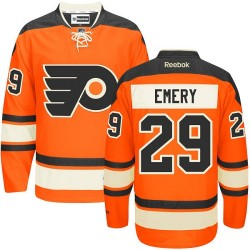 Reebok Philadelphia Flyers 29 Ray Emery New Third Jersey - Orange Authentic