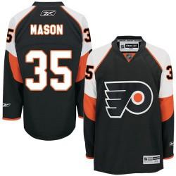 Youth Reebok Philadelphia Flyers 35 Steve Mason Third Jersey - Black Authentic