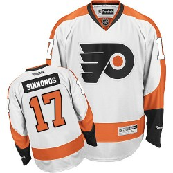 Youth Reebok Philadelphia Flyers 17 Wayne Simmonds Away Jersey - White Premier
