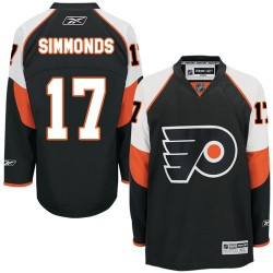 Youth Reebok Philadelphia Flyers 17 Wayne Simmonds Third Jersey - Black Authentic