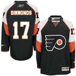 Youth Reebok Philadelphia Flyers 17 Wayne Simmonds Third Jersey - Black Authentic