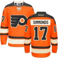 Youth Reebok Philadelphia Flyers 17 Wayne Simmonds New Third Jersey - Orange Authentic