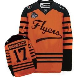 Reebok Philadelphia Flyers 17 Wayne Simmonds Winter Classic Jersey - Orange Authentic