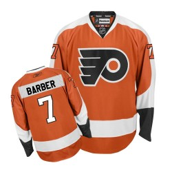 Reebok Philadelphia Flyers 7 Bill Barber Home Jersey - Orange Authentic