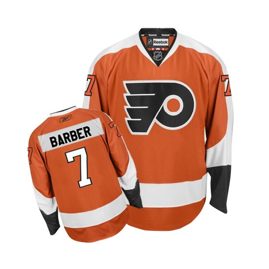 Reebok Philadelphia Flyers 7 Bill Barber Home Jersey