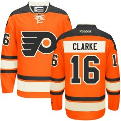 Reebok Philadelphia Flyers 16 Bobby Clarke New Third Jersey - Orange Authentic
