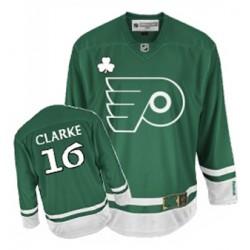 Reebok Philadelphia Flyers 16 Bobby Clarke St Patty's Day Jersey - Green Authentic