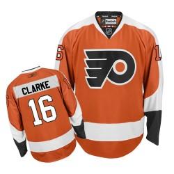 Women's Reebok Philadelphia Flyers 16 Bobby Clarke Home Jersey - Orange Authentic