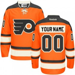 Reebok Philadelphia Flyers Men's Customized Premier Orange New Third Jersey