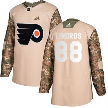 Youth Adidas Philadelphia Flyers Eric Lindros Veterans Day Practice Jersey - Camo Authentic