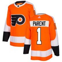 Adidas Philadelphia Flyers Bernie Parent Jersey - Orange Authentic