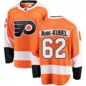 Youth Fanatics Branded Philadelphia Flyers Nicolas Aube-Kubel Home Jersey - Orange Breakaway