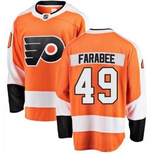 Youth Fanatics Branded Philadelphia Flyers Joel Farabee Home Jersey - Orange Breakaway