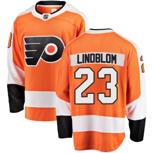 Youth Fanatics Branded Philadelphia Flyers Oskar Lindblom Home Jersey - Orange Breakaway