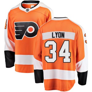 Youth Fanatics Branded Philadelphia Flyers Alex Lyon Home Jersey - Orange Breakaway