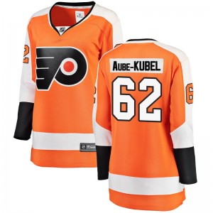 Women's Fanatics Branded Philadelphia Flyers Nicolas Aube-Kubel Home Jersey - Orange Breakaway