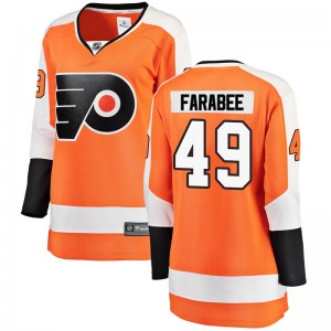 Women's Fanatics Branded Philadelphia Flyers Joel Farabee Home Jersey - Orange Breakaway