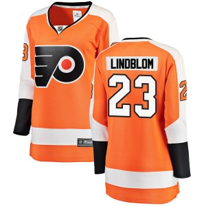 Women's Fanatics Branded Philadelphia Flyers Oskar Lindblom Home Jersey - Orange Breakaway