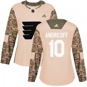 Women's Adidas Philadelphia Flyers Andy Andreoff ized Veterans Day Practice Jersey - Camo Authentic