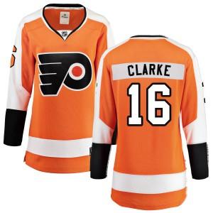 Women's Fanatics Branded Philadelphia Flyers Bobby Clarke Home Jersey - Orange Breakaway