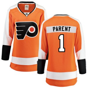 Women's Fanatics Branded Philadelphia Flyers Bernie Parent Home Jersey - Orange Breakaway