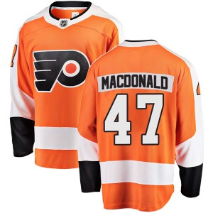 Fanatics Branded Philadelphia Flyers Andrew MacDonald Home Jersey - Orange Breakaway