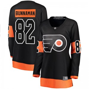 Women's Fanatics Branded Philadelphia Flyers Connor Bunnaman Alternate Jersey - Black Breakaway