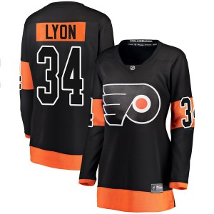 Women's Fanatics Branded Philadelphia Flyers Alex Lyon Alternate Jersey - Black Breakaway